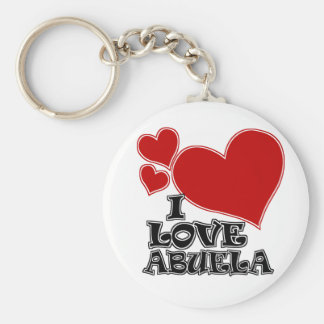 I LOVE ABUELA BASIC ROUND BUTTON KEY RING