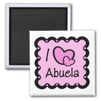 I Love Abuela Cute T-Shirt Square Magnet