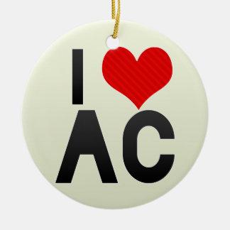 I Love AC Christmas Ornament