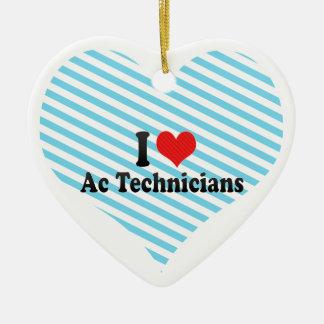 I Love Ac Technicians Christmas Ornament
