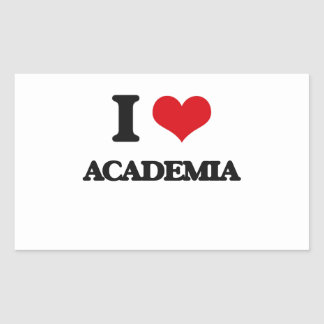 I Love Academia Rectangular Sticker