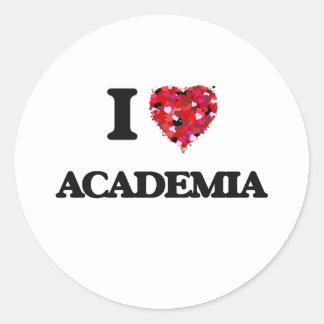 I Love Academia Round Sticker