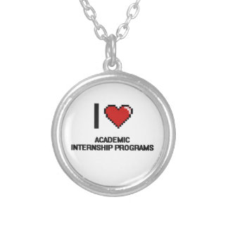 I Love Academic Internship Programs Digital Design Round Pendant Necklace