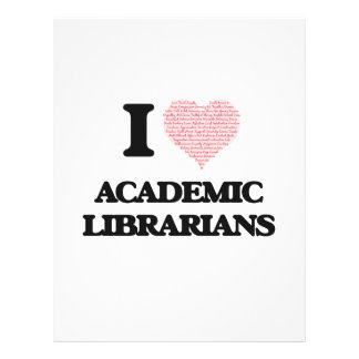 I love Academic Librarians (Heart made from words) 21.5 Cm X 28 Cm Flyer