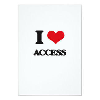 I Love Access Personalized Announcement Card