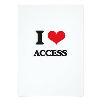 I Love Access Customized Invitation Cards