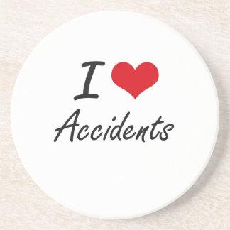 I Love Accidents Artistic Design Beverage Coasters
