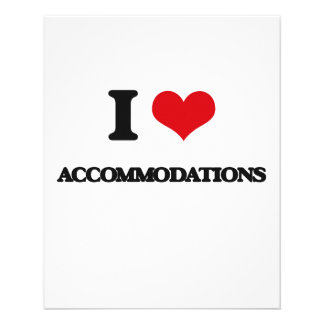 I Love Accommodations Flyer