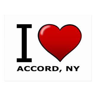 I Love Accord NY Postcard