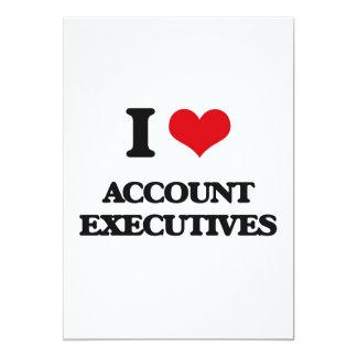 "I love Account Executives 5"" X 7"" Invitation Card"