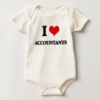 I love Accountants Baby Bodysuit
