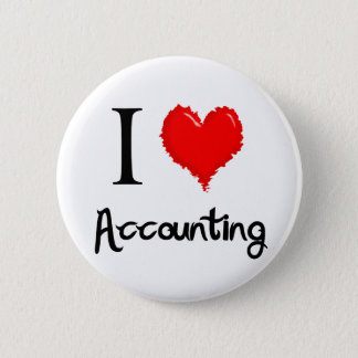i love accounting 6 cm round badge