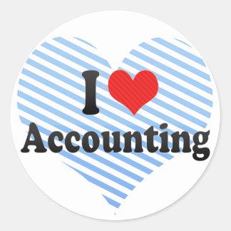 I Love Accounting Classic Round Sticker