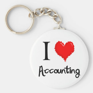 i love accounting key ring