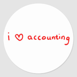 I Love Accounting Sticker for Accountant