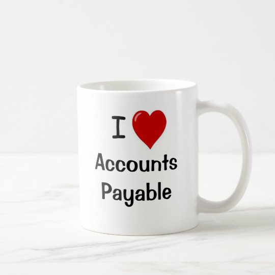 I Love Accounts Payable - Double Sided Coffee