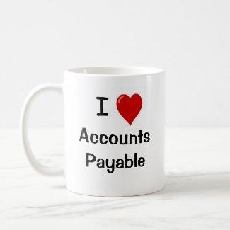 I Love Accounts Payable - Double Sided mug