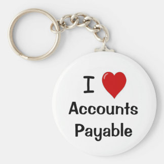 I Love Accounts Payable - I Heart Accounts Payable Key Ring