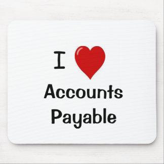 I Love Accounts Payable Mouse Mat