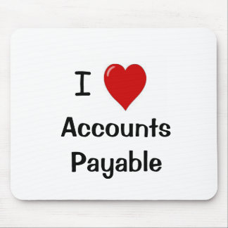I Love Accounts Payable Mouse Pad