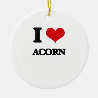 I Love Acorn Christmas Tree Ornament