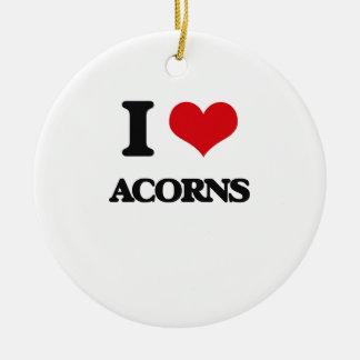 I Love Acorns Christmas Tree Ornament