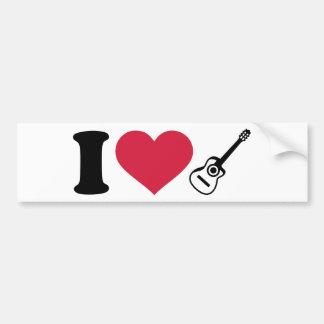 I love acoustic guitars bumper stickers
