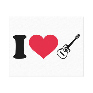 I love acoustic guitars gallery wrap canvas