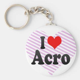 I love Acro Basic Round Button Key Ring