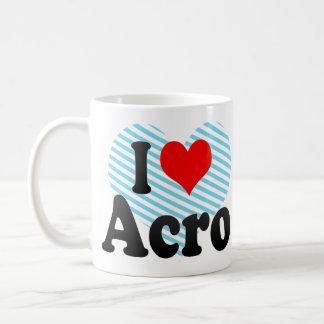I love Acro Basic White Mug