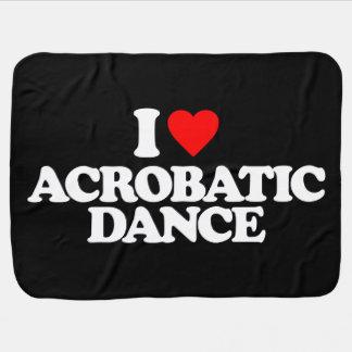 I LOVE ACROBATIC DANCE BUGGY BLANKET