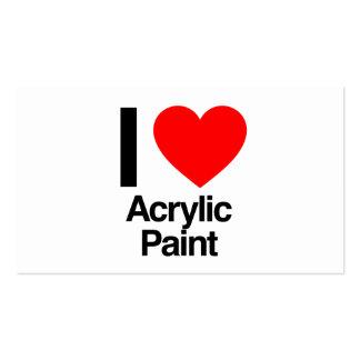 i love acrylic paint business card