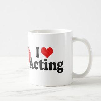 I Love Acting Basic White Mug