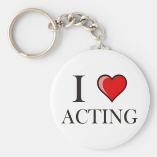 I love Acting Key Ring
