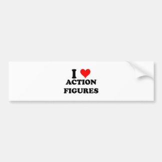 I Love Action Figures Bumper Sticker
