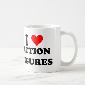 I Love Action Figures Coffee Mug