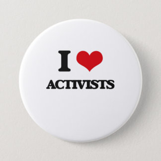 I Love Activists 7.5 Cm Round Badge