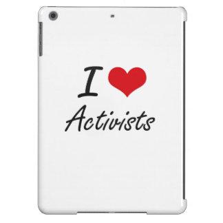 I Love Activists Artistic Design iPad Air Cover