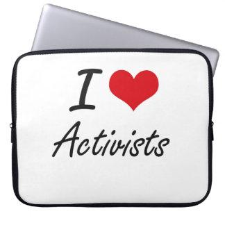 I Love Activists Artistic Design Laptop Computer Sleeves