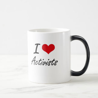 I Love Activists Artistic Design Morphing Mug