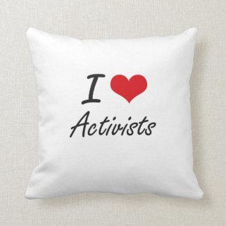 I Love Activists Artistic Design Throw Cushion