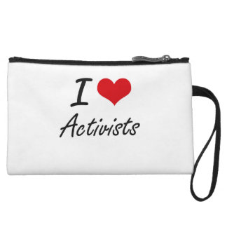 I Love Activists Artistic Design Wristlet Clutch