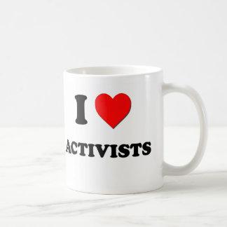 I Love Activists Basic White Mug