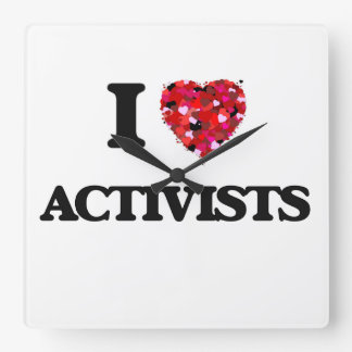 I Love Activists Wallclock