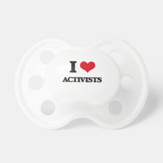 I Love Activists BooginHead Pacifier