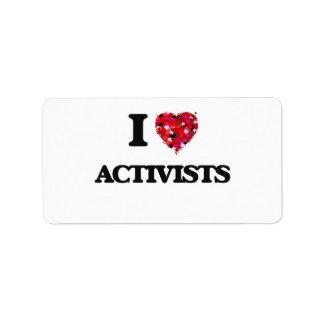 I Love Activists Address Label