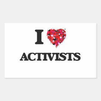 I Love Activists Rectangular Sticker