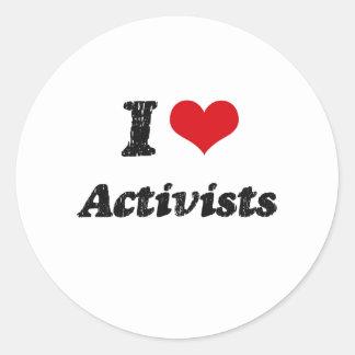 I Love Activists Round Sticker