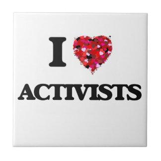 I Love Activists Small Square Tile