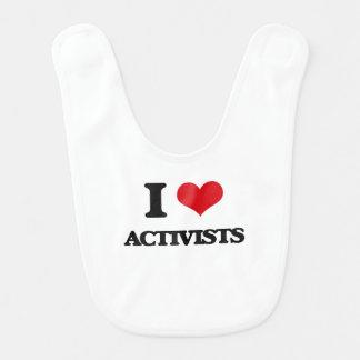 I Love Activists Bib